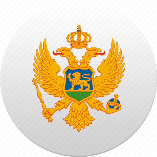 country, montenegrin, montenegro, state, state emblem icon
