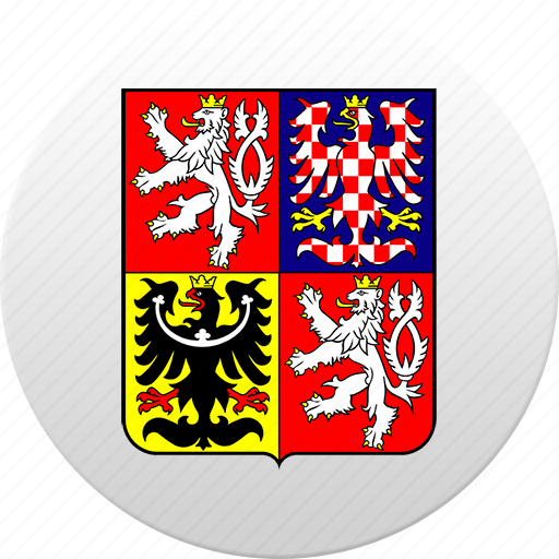 country, czech, czech republic, state, state emblem icon