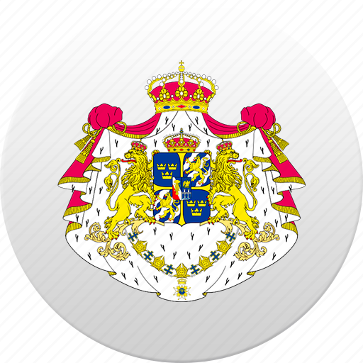 country, state, state emblem, sweden icon