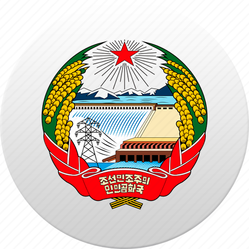 country, north korea, state, state emblem icon