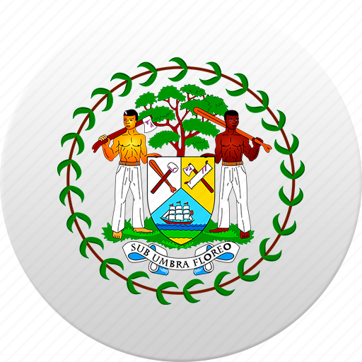 belize, country, state, state emblem icon