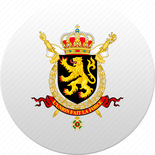 belgian, belgium, country, state, state emblem icon