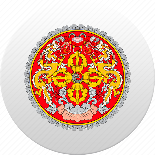 bhutan, country, state, state emblem icon