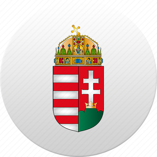 country, hungarian, hungary, state, state emblem icon