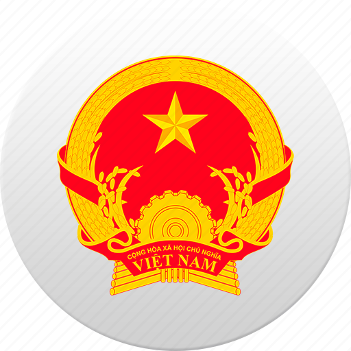 country, state, state emblem, vietnam icon