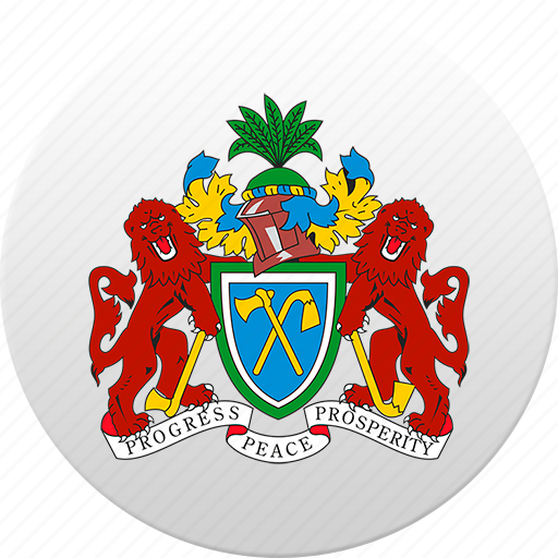 country, gambia, state, state emblem icon