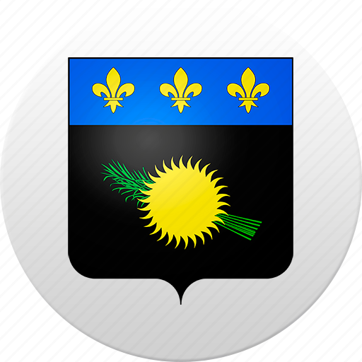 country, guadeloupe, state, state emblem icon