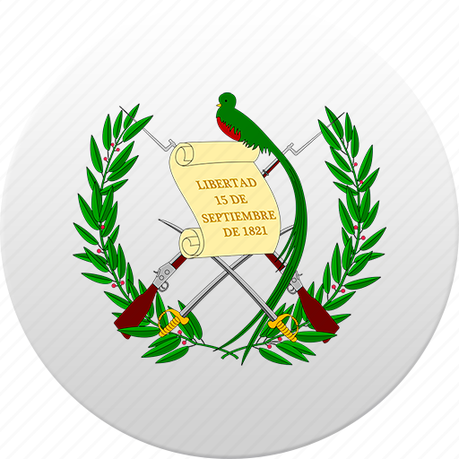 country, guatemala, state, state emblem icon