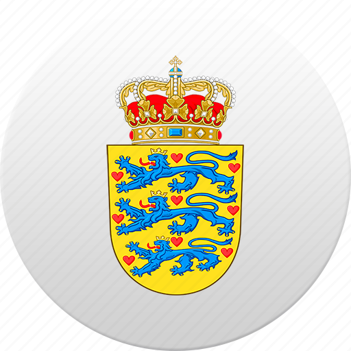 country, danish, denmark, state, state emblem icon