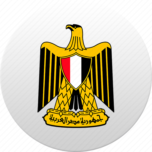 country, egypt, egyptian, state, state emblem icon