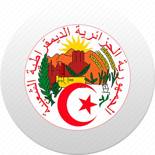 algeria, algerian, algiers, country, state, state emblem icon