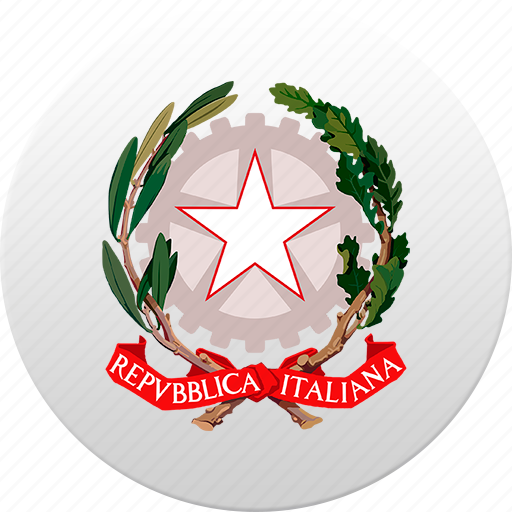 country, italy, state, state emblem icon