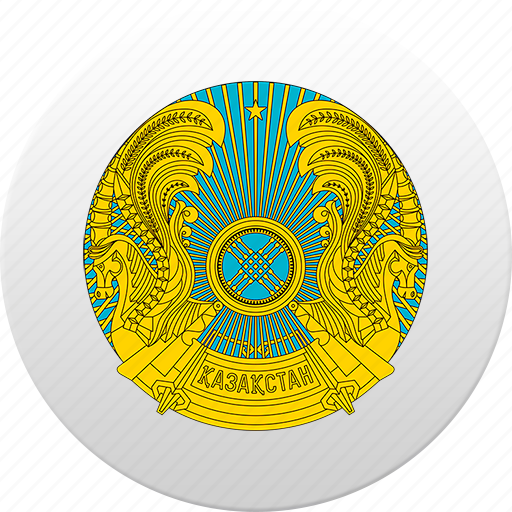 country, kazakhstan, state, state emblem icon