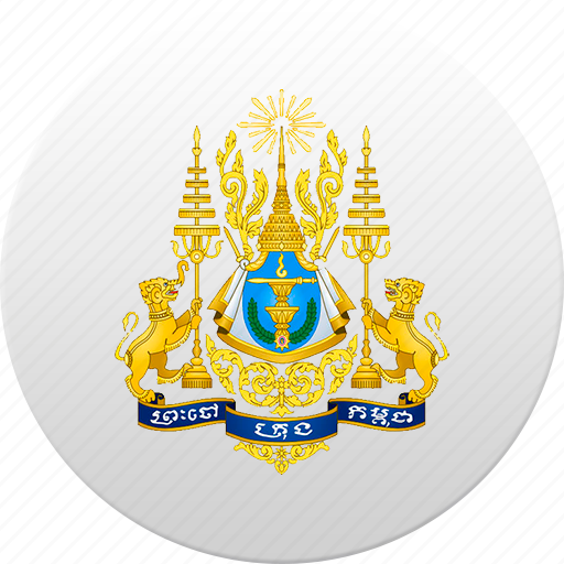 cambodia, country, state, state emblem icon