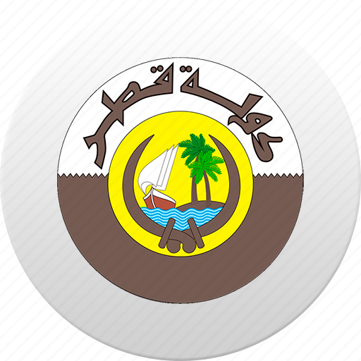 country, qatar, state, state emblem icon