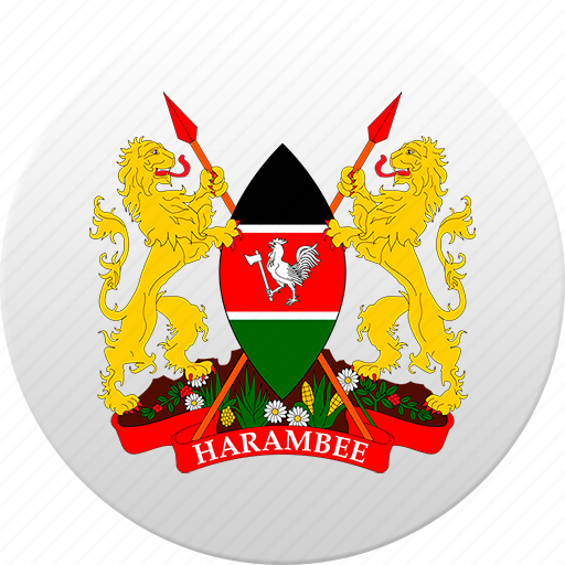 country, kenya, state, state emblem icon