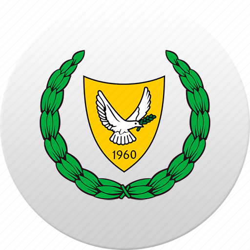country, cyprus, state, state emblem icon