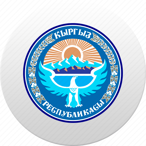 country, kirghizia, kyrgystan, kyrgyzstan, state, state emblem icon