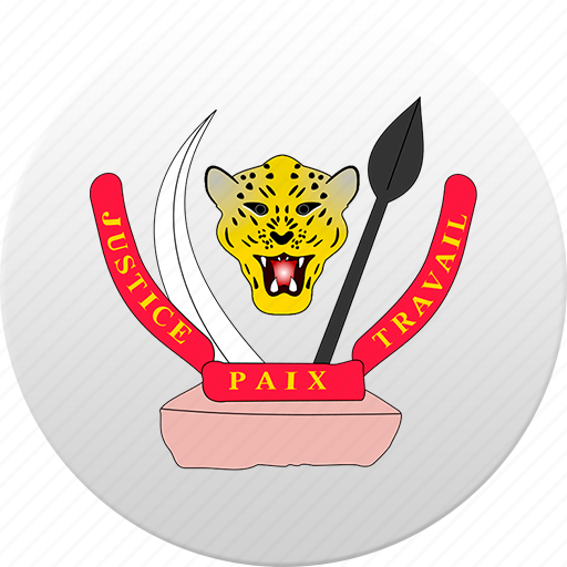 congo kinshasa, country, state, state emblem icon