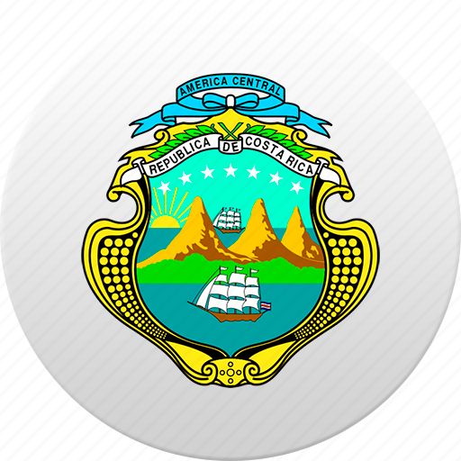costa rica, country, state, state emblem icon