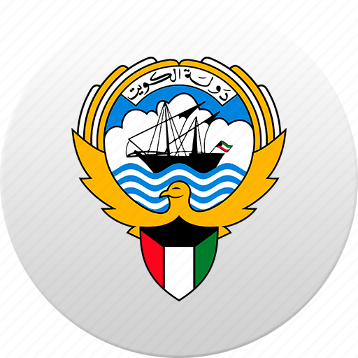 country, kuwait, state, state emblem icon