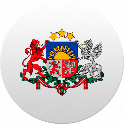 country, latvia, state, state emblem icon