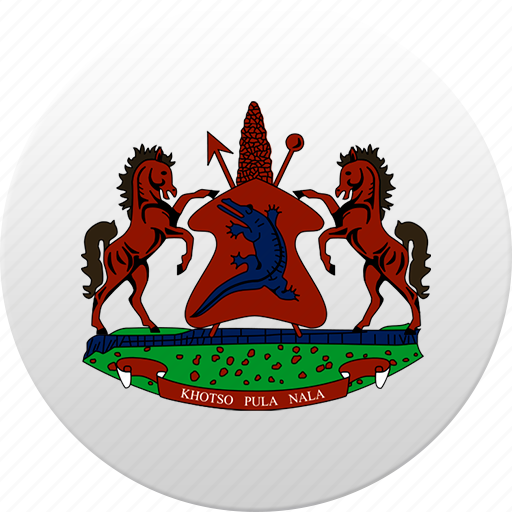 country, lesotho, state, state emblem icon