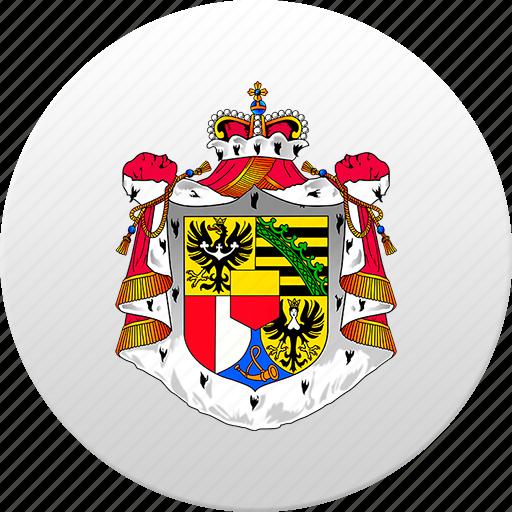 country, liechtenstein, state, state emblem icon