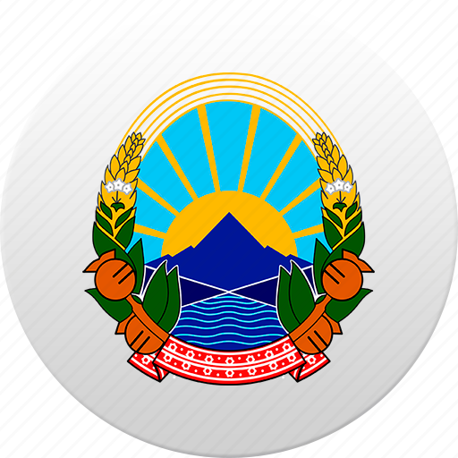 country, macedonia, state, state emblem icon