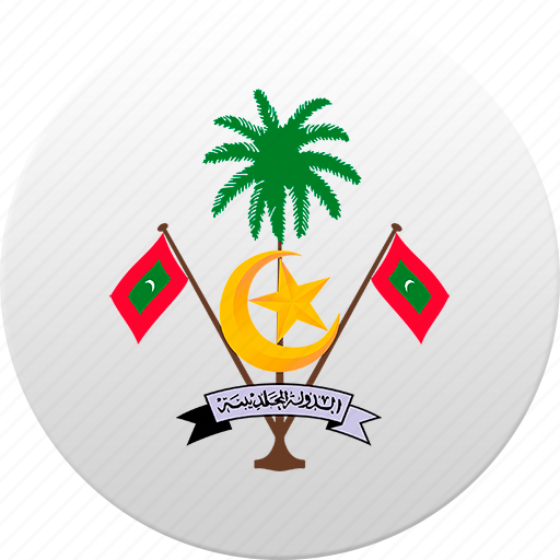 country, maldives, maldivian, state, state emblem icon