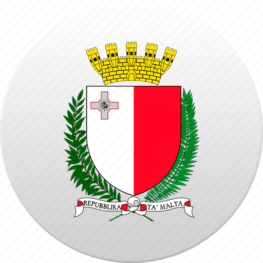 country, malta, state, state emblem icon