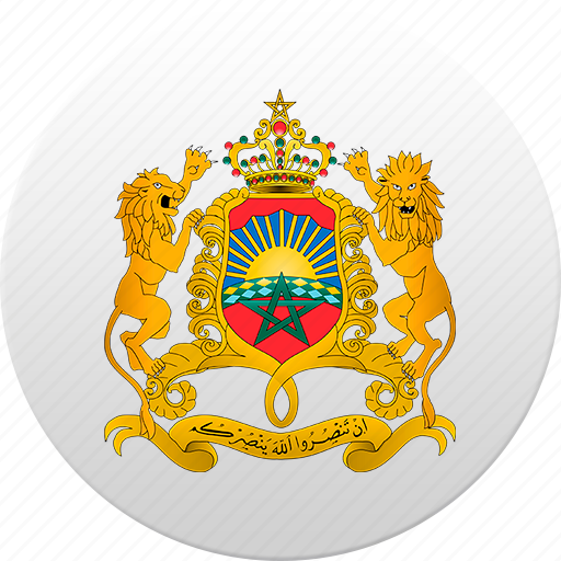country, moroccan, morocco, state, state emblem icon