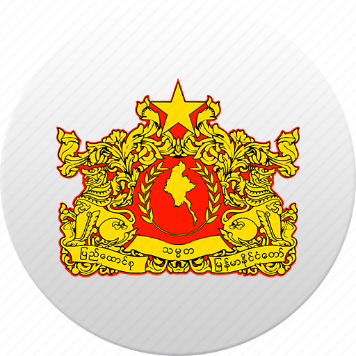country, myanmar, state, state emblem icon