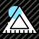protractor, set, square, tools icon