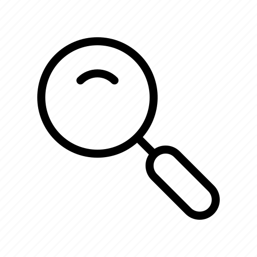 business, desk, glass, magnify, office, search, stationary icon