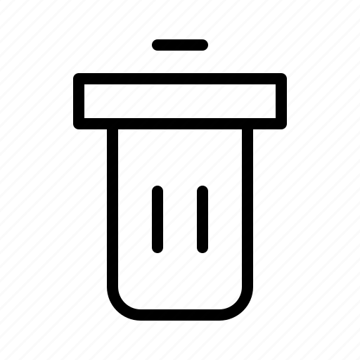 can, desk, erase, garbage, office, stationary, trash icon