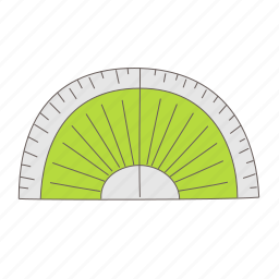 circle, half, measure, protractor, ruler icon