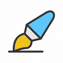 business, education, illustration, office, paintbrush, school, stationery icon