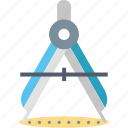 accuracy, compass, divider, drawing, geometry, measuring, tool icon