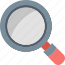 examine, find, glass, magnifier, search, tool, zoom icon