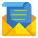 contact, email, envelope, letter, mail, message, paper icon