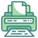 electronics, ink, office, paper, print, printer, technology icon