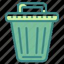 basket, bin, can, garbage, tools, trash, utensils