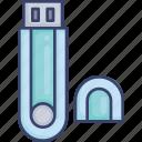 device, electronic, memory, stick, storage, usb icon