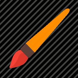 art, brush, color, drawing, equipment, paint, paintbrush icon
