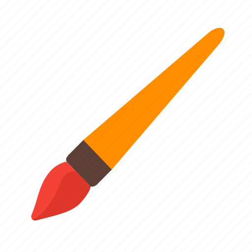 art, brush, color, drawing, equipment, paint, paintbrush icon