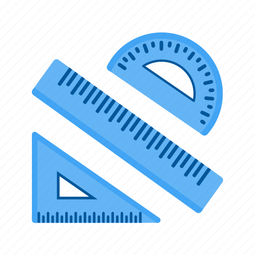 geometry, math, protractor, ruler, school, set, tools icon
