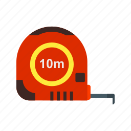 instrument, measure, measurement, measuring, object, tape icon