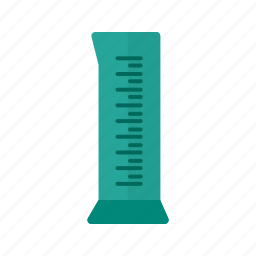 beaker, chemical, cylinder, lab, liquid, science, volume icon