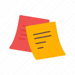 memo, note, notes, paper, post, sticky, yellow icon